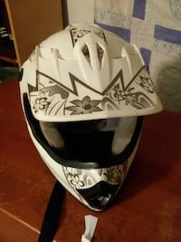 white and black floral full-face helmet Florence, 35630