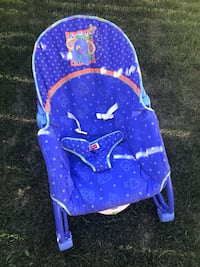 Baby's purple and white bouncer-SPPU Calgary, T3K 0X2