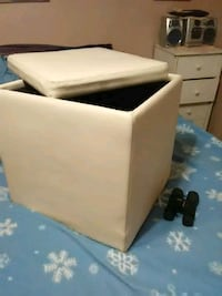Foot stool and storage container.