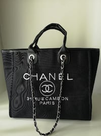 Women Large Chanel Shoulder Tote Shopping Bag Burnaby