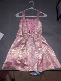 Beautiful gold and ping gold dress with bow Magnolia, 77354