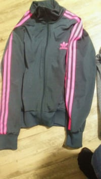 gray and pink Adidas track pants Regina, S4T 3Z1