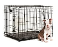 Never Used Brand New Pet Kennel  Good Dog Training crate. Black Two doors Sarasota, 34237