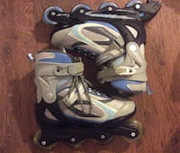 Pair of white-and-blue inline skates- size 9 Jacksonville, 32224
