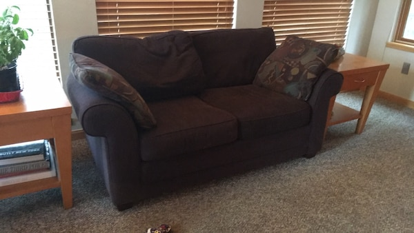 Small 2 Seat Purple Couch
