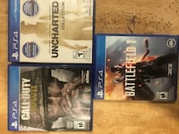 three Sony PS4 game cases Mississauga, L5M 7Z9