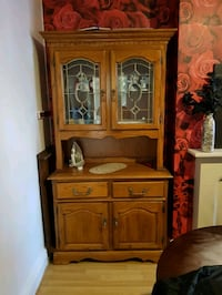 brown wooden china cabinet with cabinet South Yorkshire, DN1 2BD