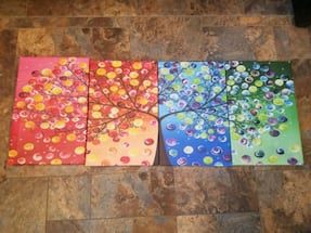 Four Seasons Tree Canvas ( 4 pieces)
