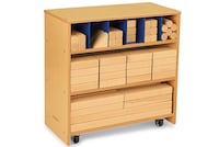 brown wooden storage crib with changing table Los Angeles, 91326