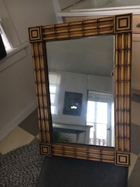 Retro wooden mirror