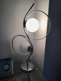 """Chrome Vintage Lamp of Two Balls of the 50""""s. Nueva York, 10016"""