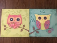 Owl With Paisley Print Wall Art