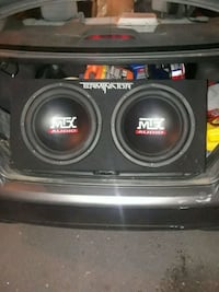 MTX Subwoofers/amp. Martinsburg, 25405