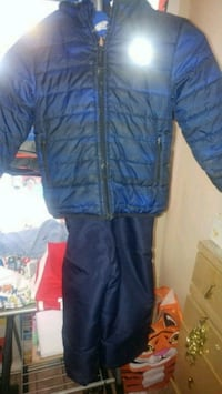 blue zip-up bubble jacket Hyattsville, 20785