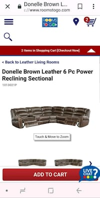 Brand new.Delivered Jan 16. Leather sectional sofa New Market, 21774