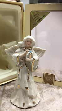 Angel with the December birthstone ceramic