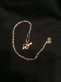 GIFT IT!  Reduced! 10K GOLD STAMPED Chain AND Pendant Richmond, V6X 1C6