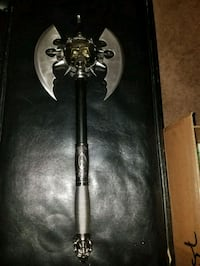 Skull Battle Axe with wall mount Lansdale