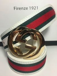 Gorgeous White Belt with Golden Buckle in Case Mississauga, L5R 3A9