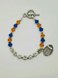 Sterling silver Broncos fan bracelet  Colorado Springs, 80904