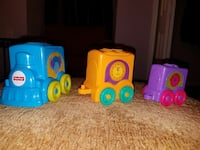 three assorted-color of Fisher-Price train playset Chesapeake, 23320