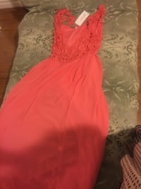 Women's red sleeveless dress with tag London