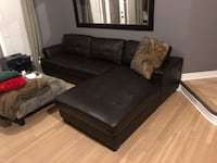 black leather tufted sectional sofa Vaughan, L6A 3X3