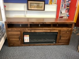 New Belle Isle Tv Stand w/ Electric Fireplace