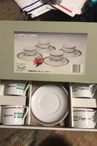 Cappuccino  cups and saucers new Italian style prestige Deco