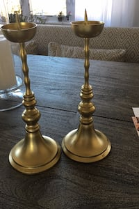 Gold metal candle holders-  Ashburn, 20148