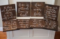 1 Corinthians 13 wedding signs Aldie, 20105