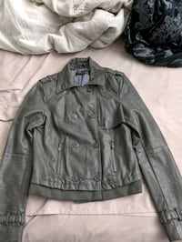 Zara gray faux leather jacket Large Montreal