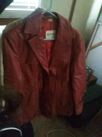 brown leather zip-up jacket Oklahoma City, 73112