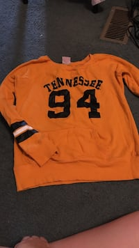 orange and blck Tennessee long sleeve top Clinton, 37716