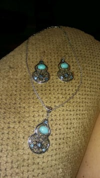 Turquoise jewelry set #11 Greeneville, 37743