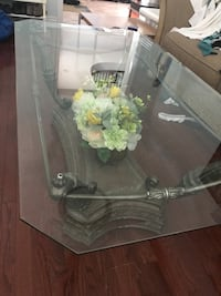 3 Set - Glass coffee table with two end tables