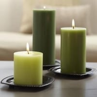 Three green pillar candles by partylite Surrey, V3S 7M2