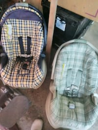 baby's two gray and pink car seats Bastrop, 71220