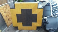 brown and black wooden cross coffee table Knoxville, 37914