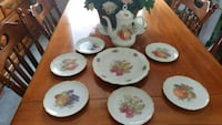 6 fruit plates Serving Plate and Coffee Pot Kitchener, N2C 2L2