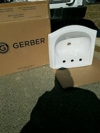white Gerber ceramic sink Arlington, 22204
