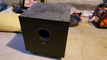 """JBL home theater 10"""" powered subwoofer."""