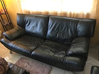 Black leather sofa and chair Miami, 33155