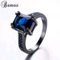 silver-colored ring with blue gemstone Clarksville, 37042