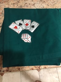 Poker table clothes.