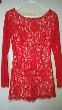 Nordstroms Red lace romper with nude lining Las Vegas, 89128