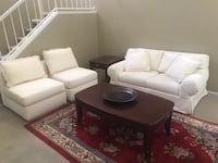 Love seat & two sofa chairs