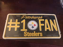 Steelers License Plate collectible
