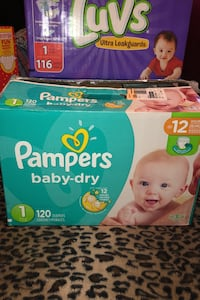 Pampers size 1 (already open )