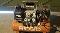 black and orange Ridgid air compressor Calgary, T1Y 2C4